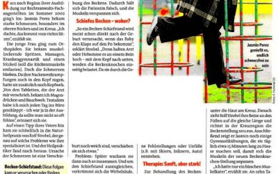 """Pressebericht aus der Zeitschrift """"Bild der Frau"""""""